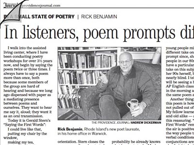 Newspaper: Rick in the Providence Journal